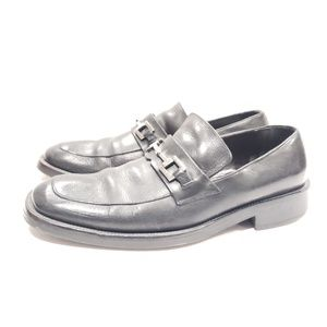Gucci size 9 black leather loafers horsebit